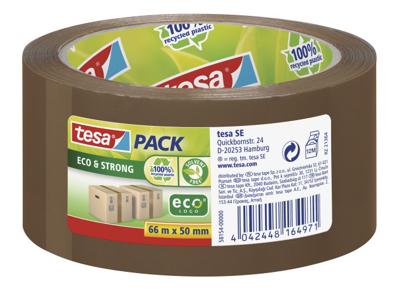 Tape pakke Tesa PP Ecologo 50 mm x 66 meter brun