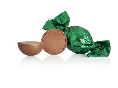 Chokoladekugler grøn 1kg. nougat
