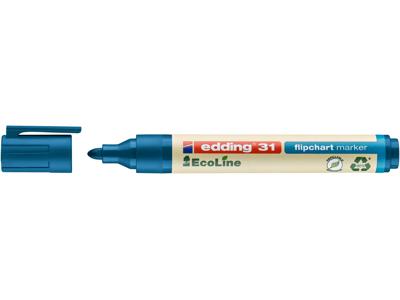 Marker Edding 31 Ecoline blå flipover