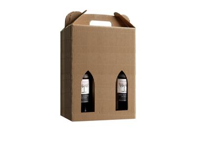 Vinæske brun åben bølge til 6 flasker