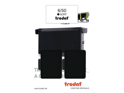 STEMPELPUDE TRODAT 6/50 SORT 2 stk