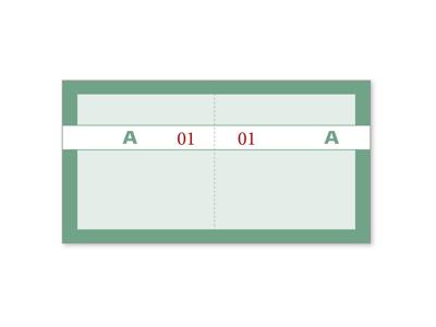 Kuponbog Grøn 2x100 blade
