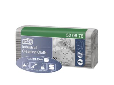 Aftørringsklud Tork W4 520678 industri grå 5x120 ark