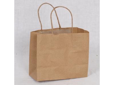 Bærepose papir 350x170x270mm brun twistet hank 250 stk