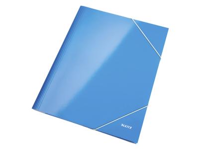 Elastikmappe A4 karton blå Leitz WOW
