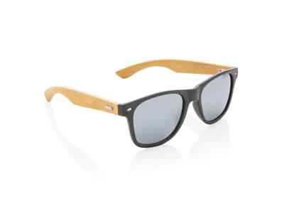 Hvedestrå og bambus solbrille, sort