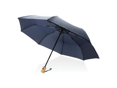 """21"""" automatisk åben/luk RPET paraply, marine blå"""