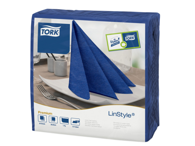 Serviet Linstyle Tork 39X39 cm midtnight blue 50 stk
