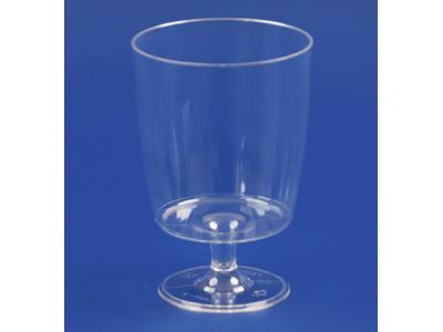 Plastglas hård PS på fod 20 cl 10 stk.