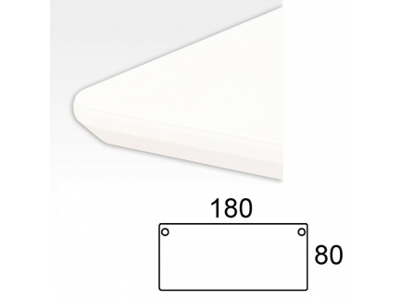 Bordplade 180 x 80 cm Hvid