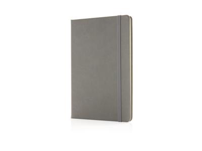 Luksus hardcover PU A5 notesbog, grå