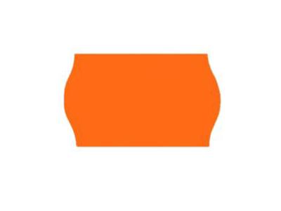 Prisetiket 26x16 orange