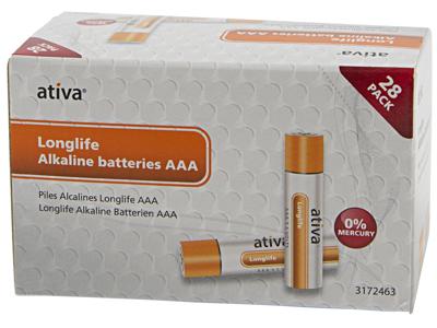 Batteri Ativa AAA 28 stk