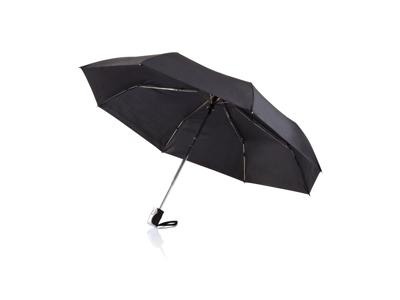 "Deluxe 21 5"" 2-i-1 paraply med automatisk åbning/lukning, so"