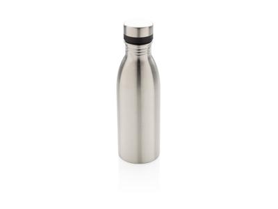 Deluxe rustfrit stål vandflaske, sølv