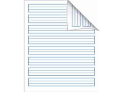 Skolehæfte 17x21 cm lin k.blå