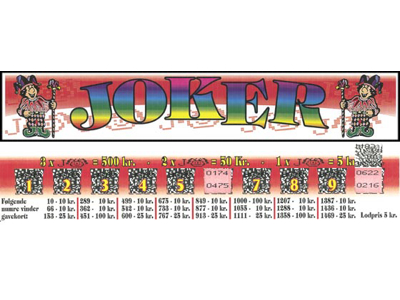 JOKER - 600 LODDER 5 KR