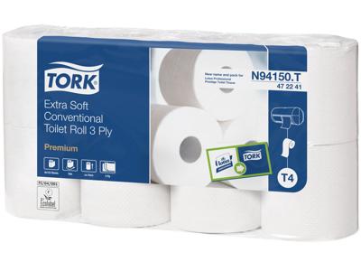 Toiletpapir Tork Premium 3lg. 40rl. 472241