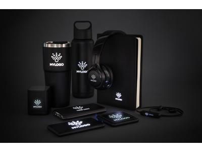 Krus med logo lys, sort