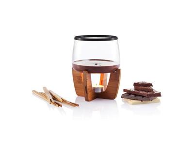 Cocoa chokolade fonduesæt, sort