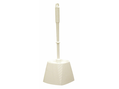 Toiletbørste med skål Hvid