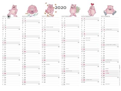 A4 kontorkalender, Humor - grise, FSC Mix 20059500