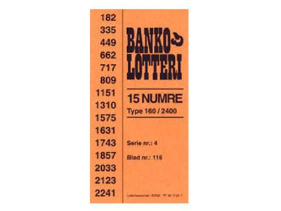 BINGO LOTTERI 1-2400