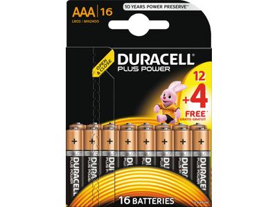 BATTERI Plus Power AAA 12+4