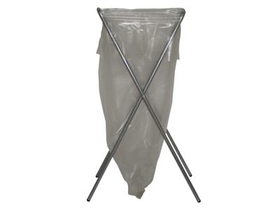 Affaldsstativ galvaniseret stål folde + gummifødder