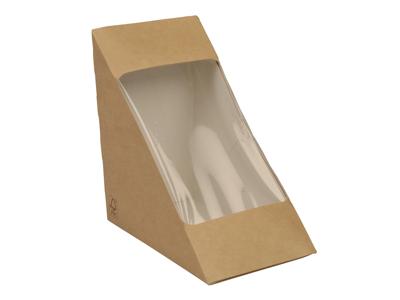 Take away sandwichbox m/rude, 17x12x17cm, 500 stk.