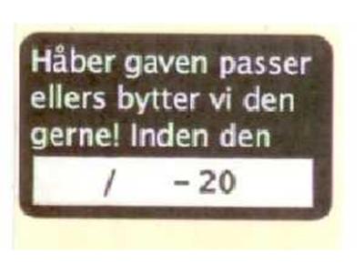 BYTTEMÆRKE SORT 1000 STK PR.RL