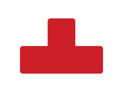 Gulvmærker T form rød