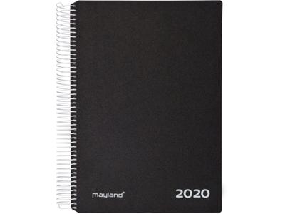 Timekalender 1-dag, hård PP-plast, sort, FSC Mix 20218000