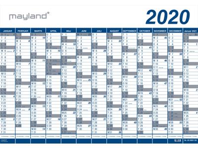 Kæmpekalender 2020, 1x13 mdr., PP-plast, rør 20065000