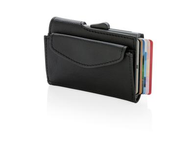 C-Secure RFID kortholder og mønt/nøglepung, sort