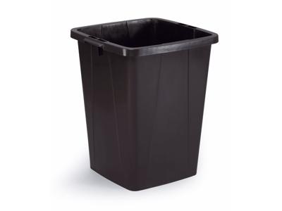Affaldspand Durabin 90L. sort firkantet