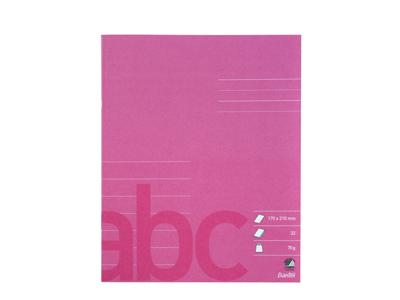 Skolehæfte 17x21 cm lin pink