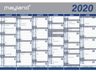 Kæmpekalender, 2x6 mdr., papir, rør, FSC Mix 20064000