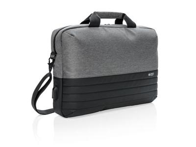"""Swiss Peak RFID 15.6"""" computer taske, grå"""