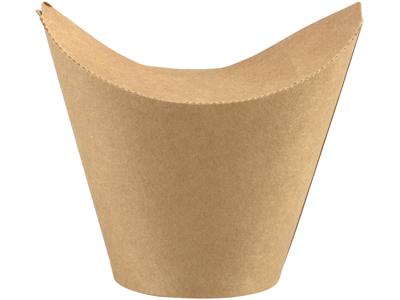 Bæger m/foldelåg 8/6 oz brun PLA/pap 50 stk.