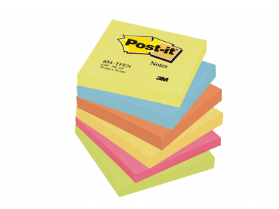 Post it 76x76mm neon 6 stk.