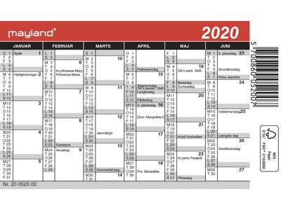 Mini kalender, FSC Mix 20052000