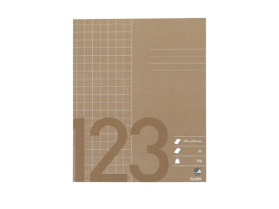 Skolehæfte 17x21 cm kvad brun