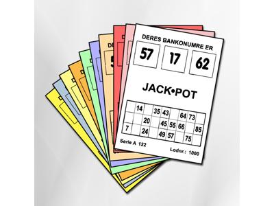 JACKPOT/LYKKE BANKO 1000 LODDER