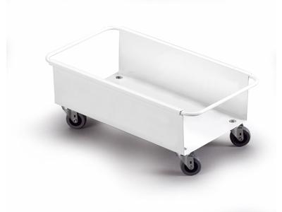 Vogn Durabin 60L. hvid m/4 hjul