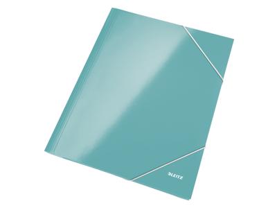 Elastikmappe A4 karton isblå Leitz WOW