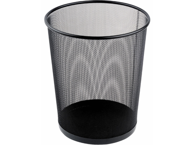 Papirkurv tråd metal 18 liter sort
