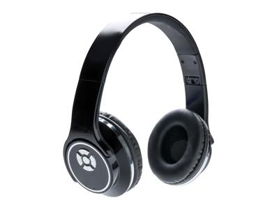 Hovedtelefon og højtaler, sort