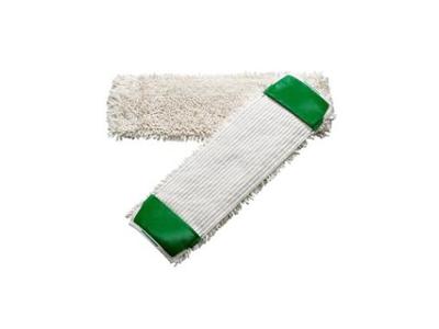 Moppe dryp flad Tender 40 cm hvid/grøn med lommer