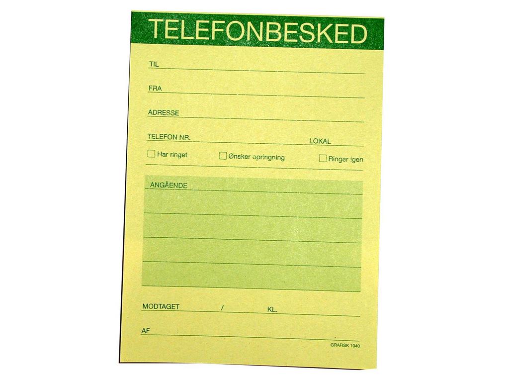 TELEFONBESKED GUL 1040  5 STK